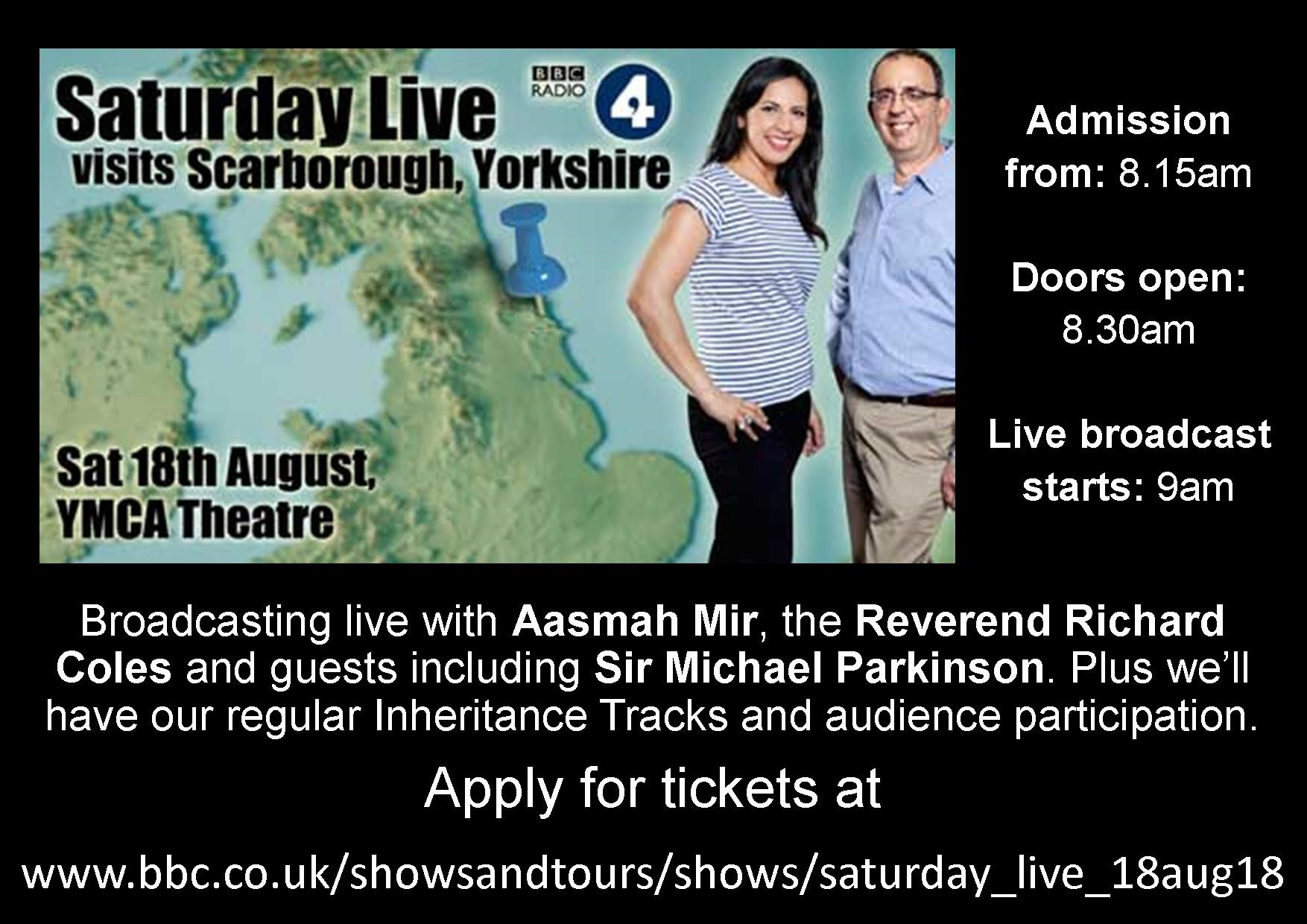 BBC Radio 4 - Saturday Morning Live