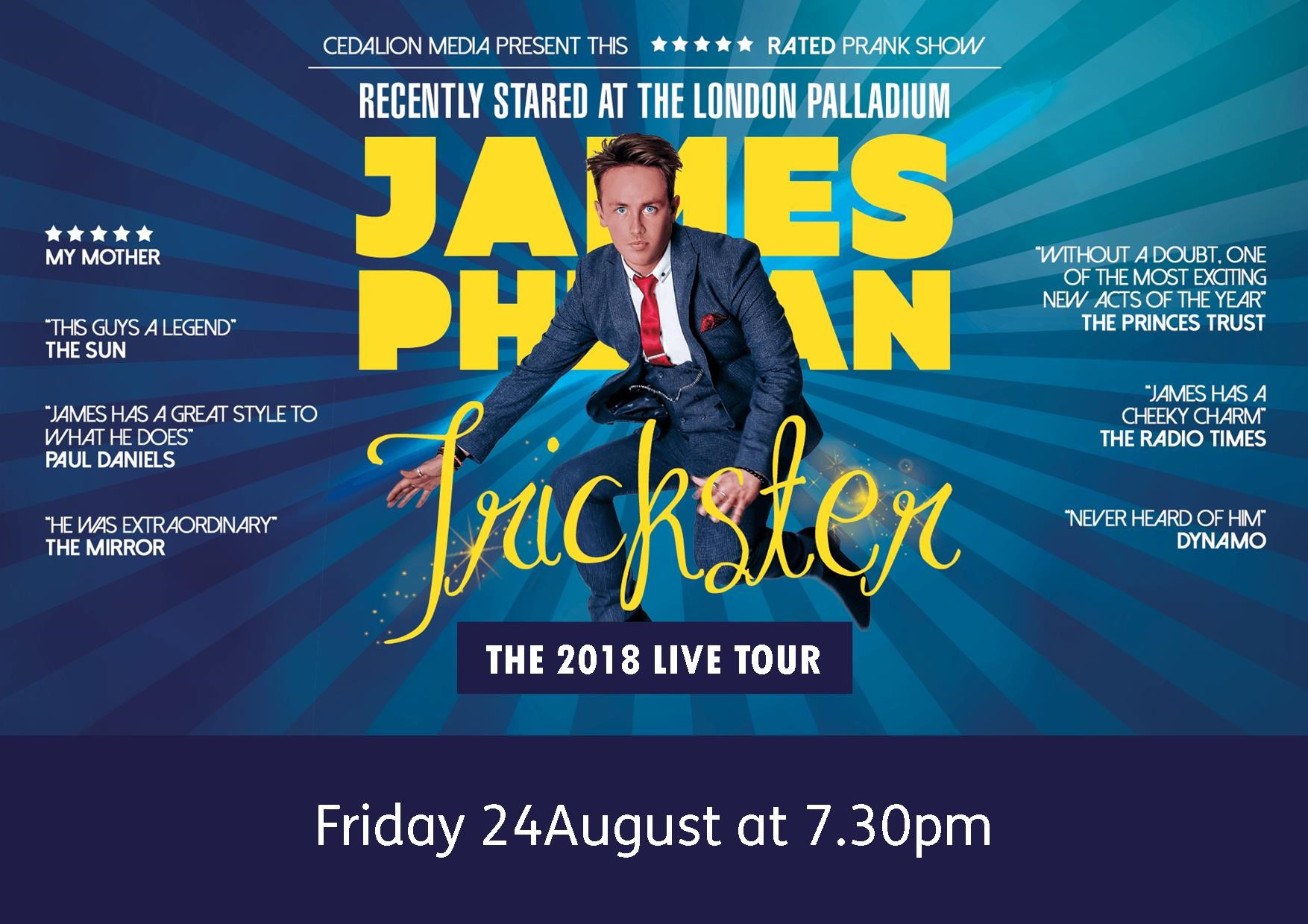 James Phelan Trickster Tour 2018