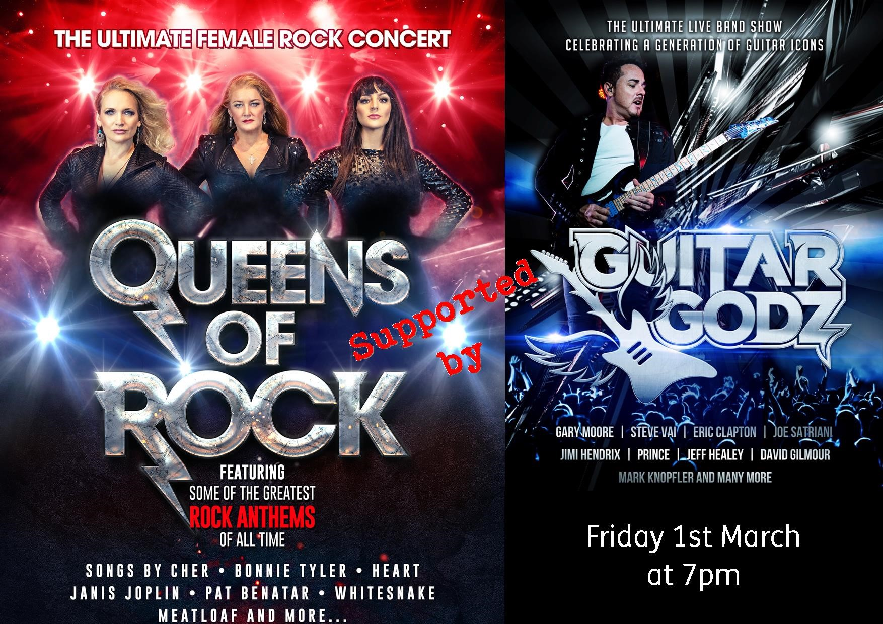 Queens of Rock Supported by Guitar Godz